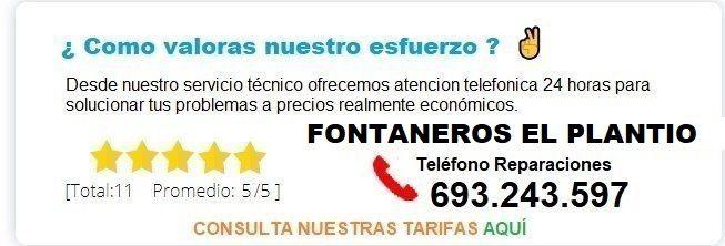 Fontanero El Plantio precio
